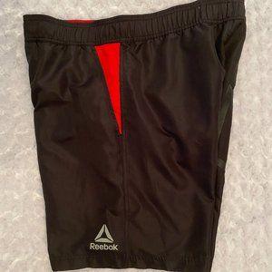 Reebok Men's Black/Red Swim Trunks - S